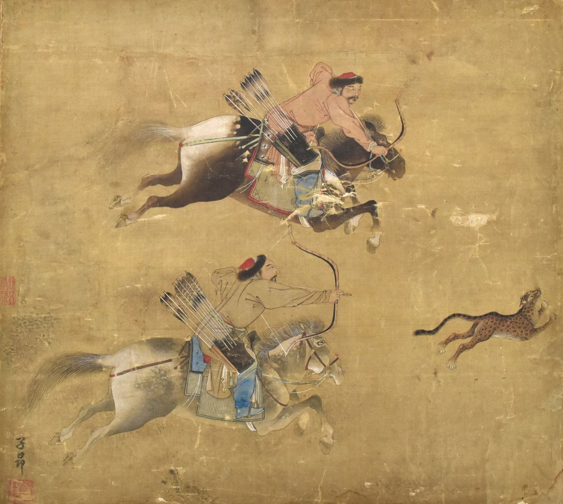 Painting of Hunting Scene, Zhi Ang Mark, Qing
