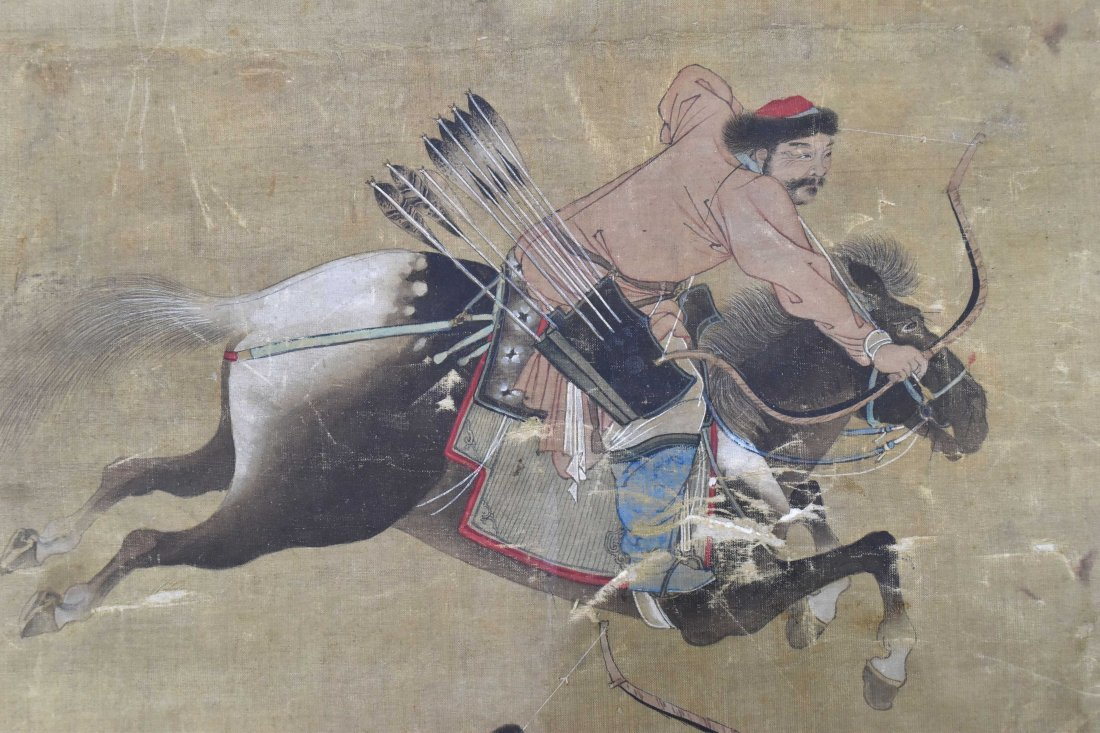 Painting of Hunting Scene, Zhi Ang Mark, Qing - 4