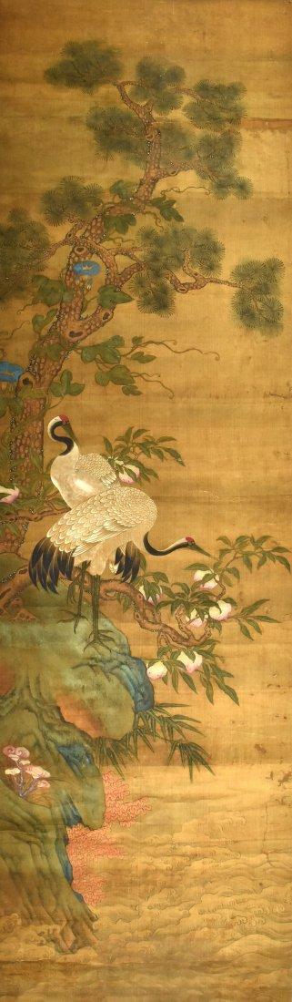 A Painting of Pine Tree & Crane, Su Guo