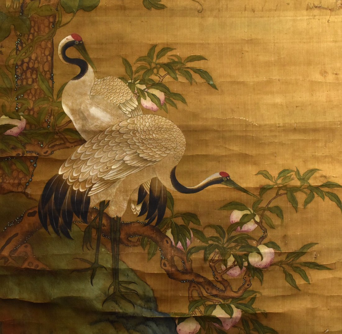 A Painting of Pine Tree & Crane, Su Guo - 3
