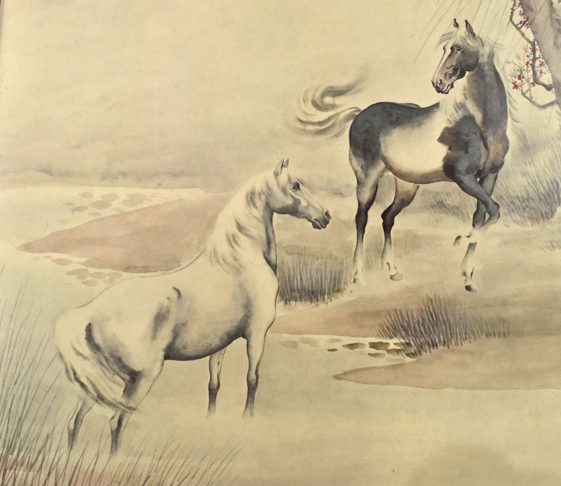 An Old Print of Two Horses, Ge Xianglan - 3