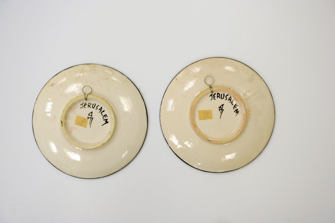 Pair of Black & White Plates, Jerusalem - 2