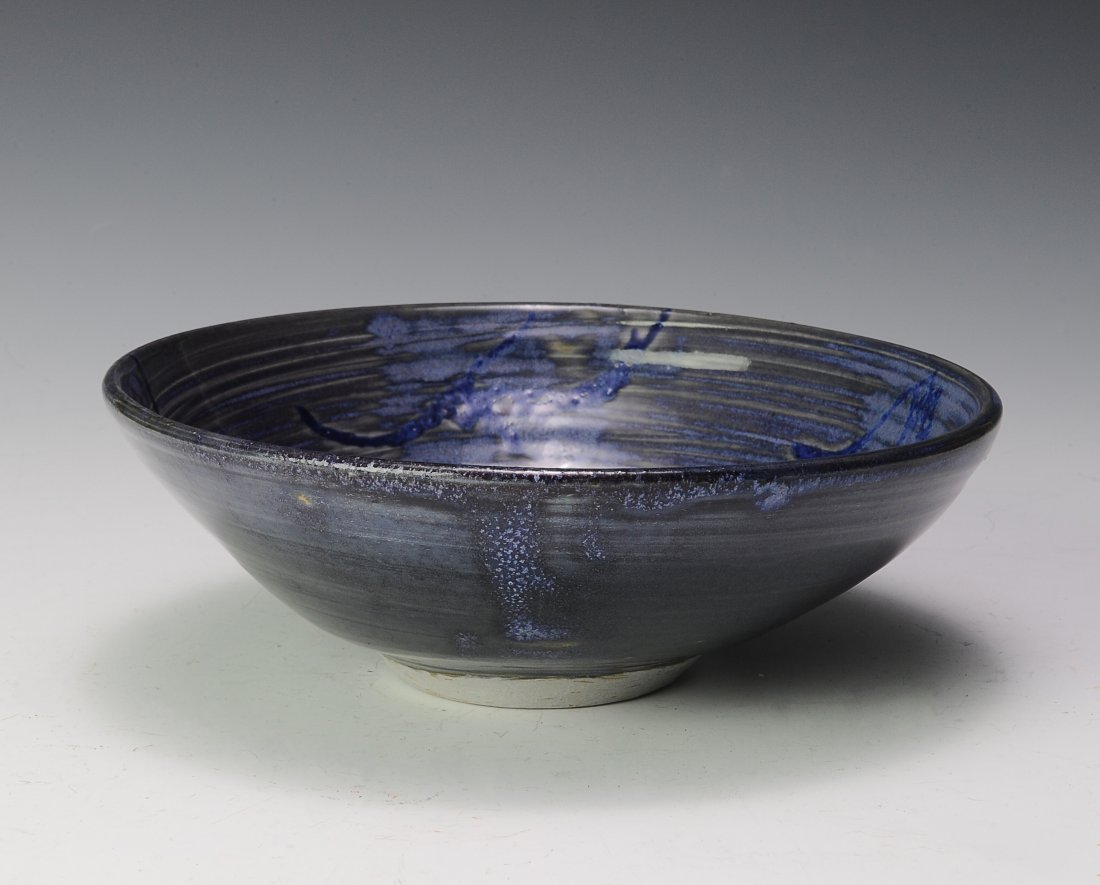 Blue Glazed Ceramic Bowl