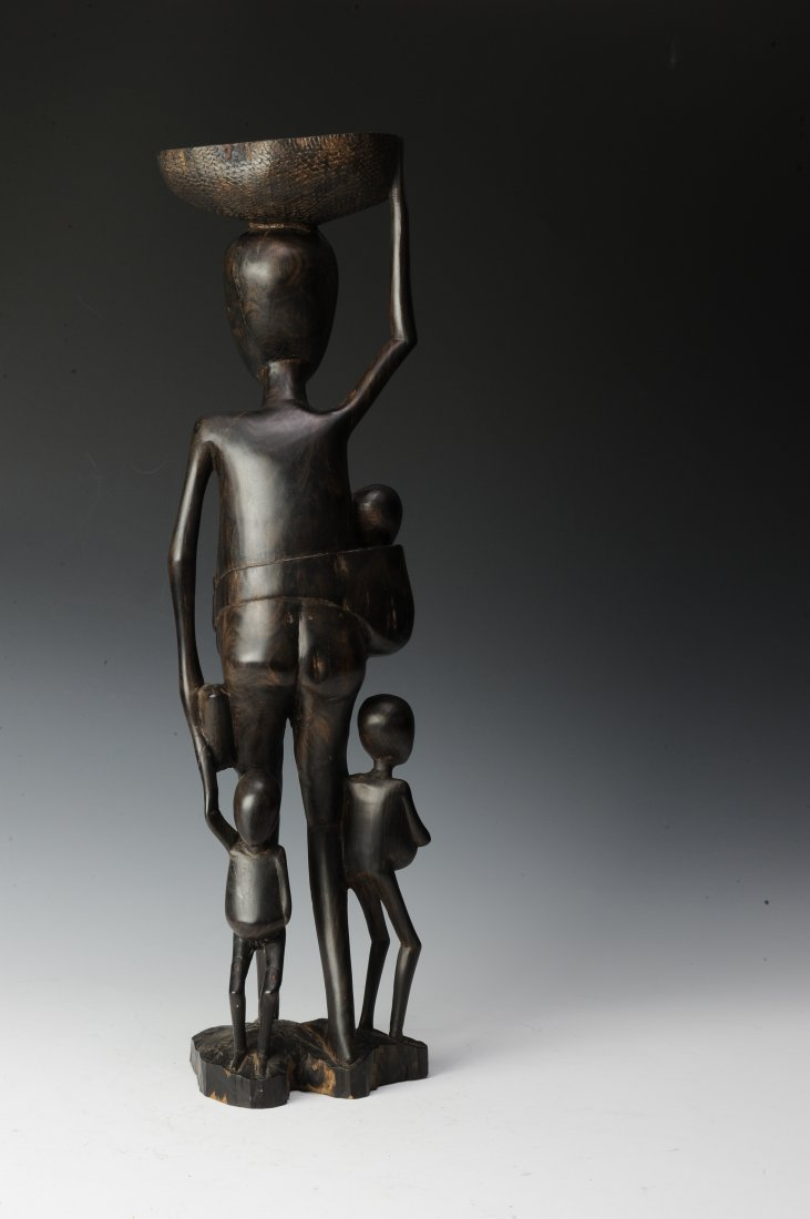 Vintage Ebony Makonde Sculpture - 3