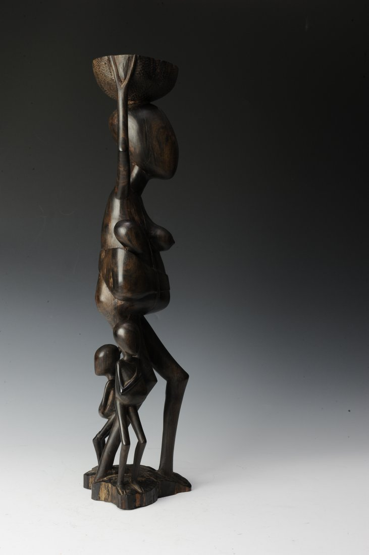 Vintage Ebony Makonde Sculpture - 4