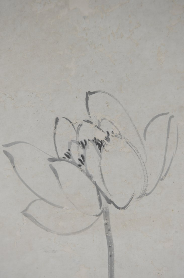 Lotus Painting by Hu Gongshou (1823 - 1886) - 9
