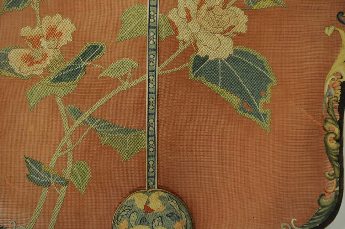Pair of Embroidered Fans, Qing Dynasty - 5