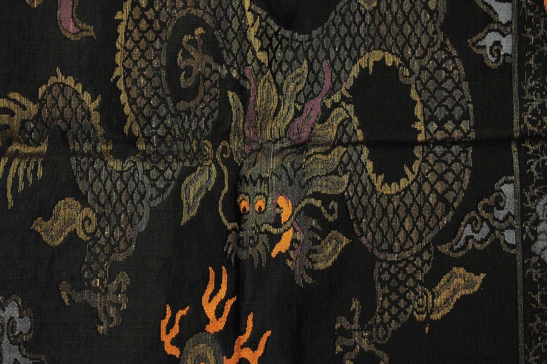 5-Claw Dragon, Black Pillowcase, 19th Century - 2