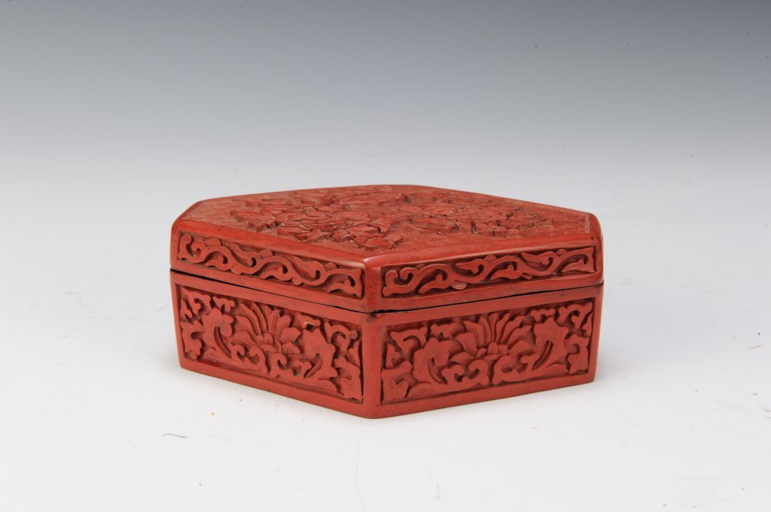 Group of 6 Cinnabar Boxes - 3