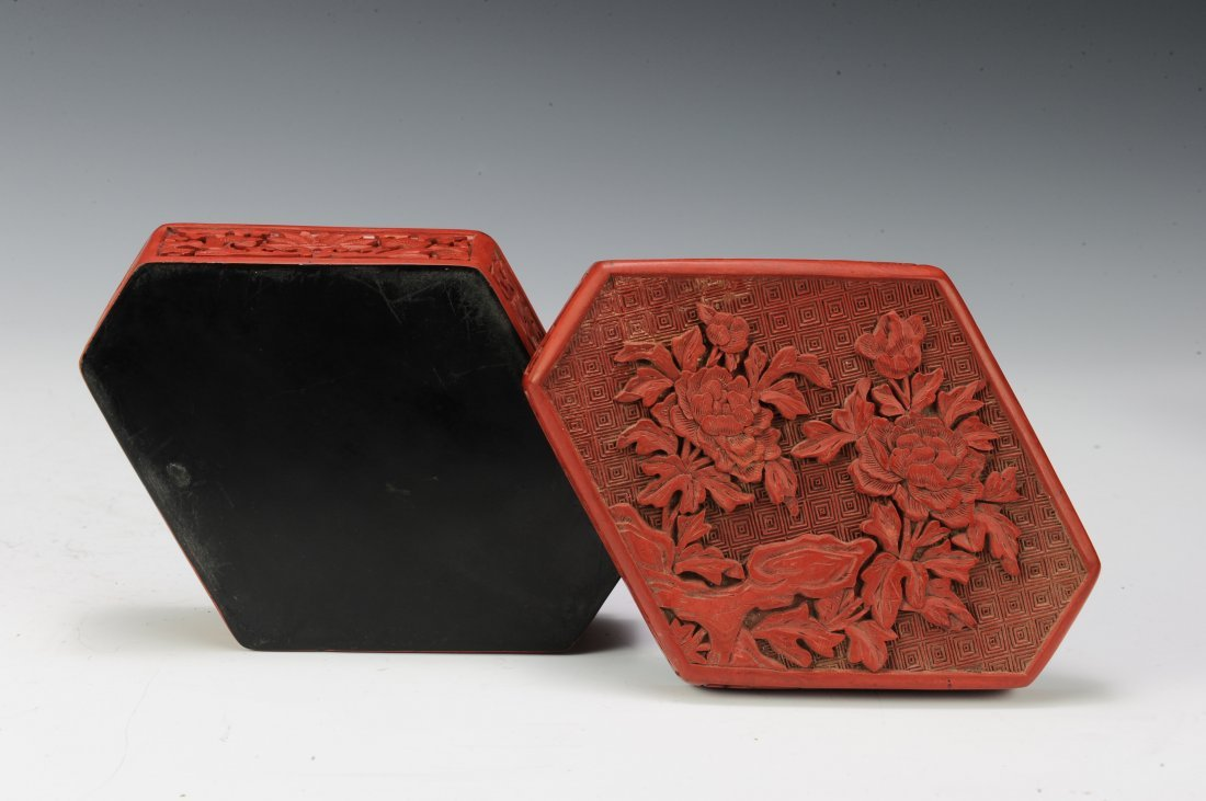 Group of 6 Cinnabar Boxes - 4