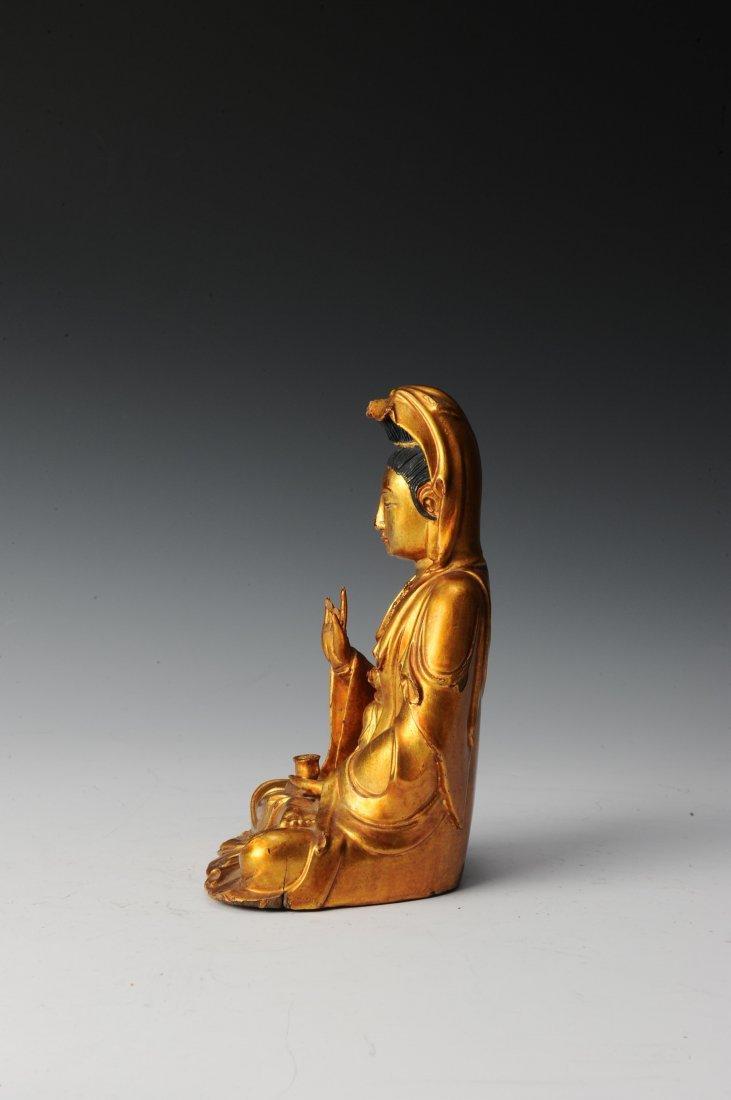 Gilt Wooden Bodhisattva - 2