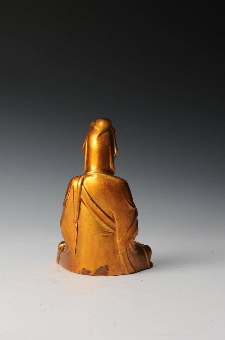 Gilt Wooden Bodhisattva - 3