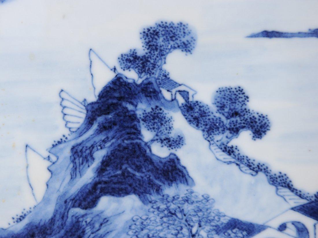 Blue & White Porcelain Plaque, 19th Century - 3