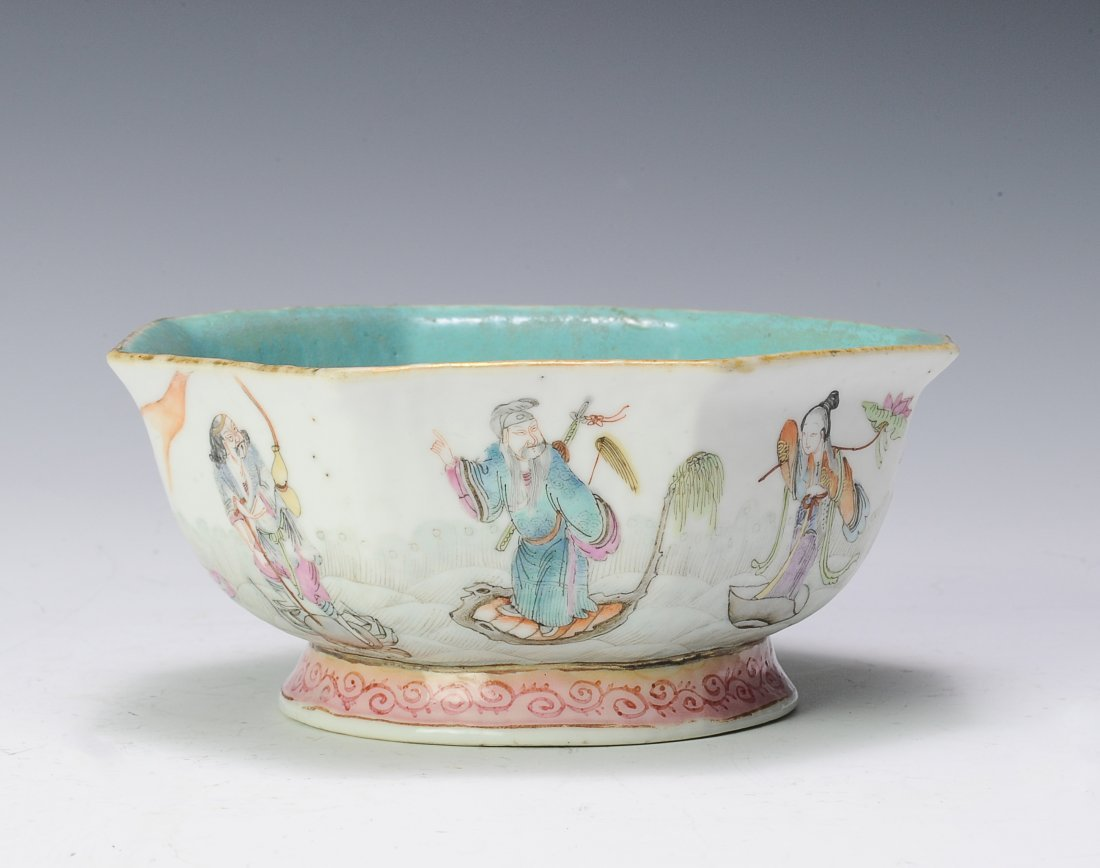 Famille Rose Bowl, 19th - 20th Century - 2