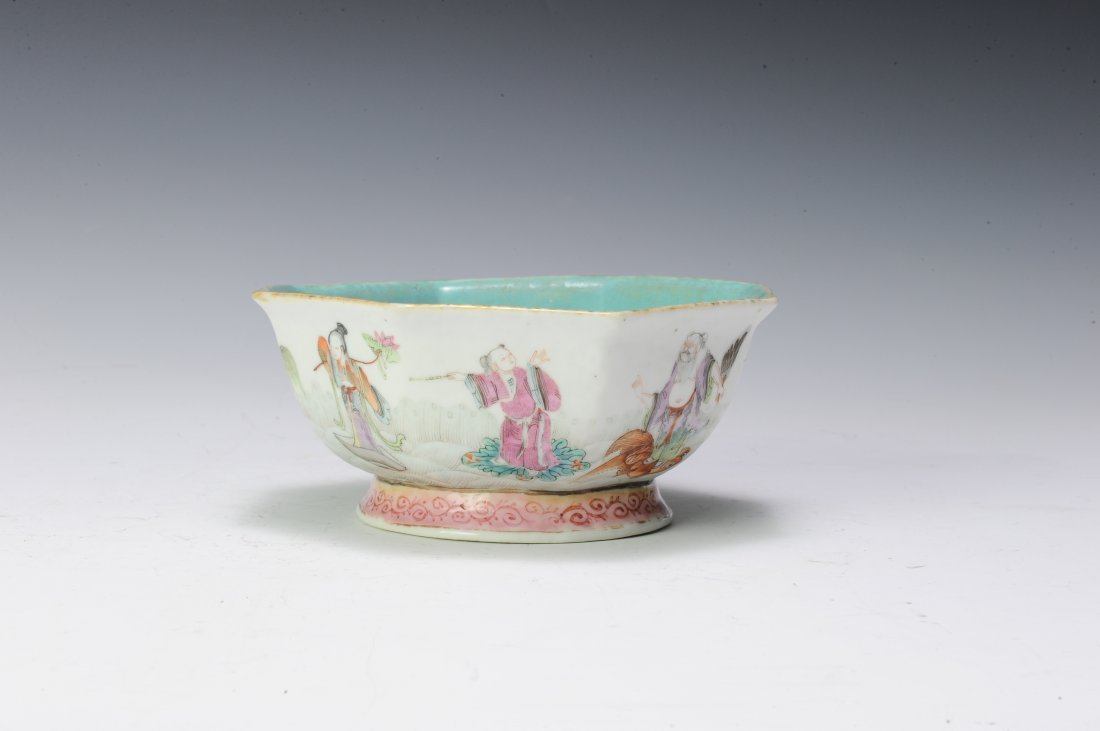 Famille Rose Bowl, 19th - 20th Century - 3