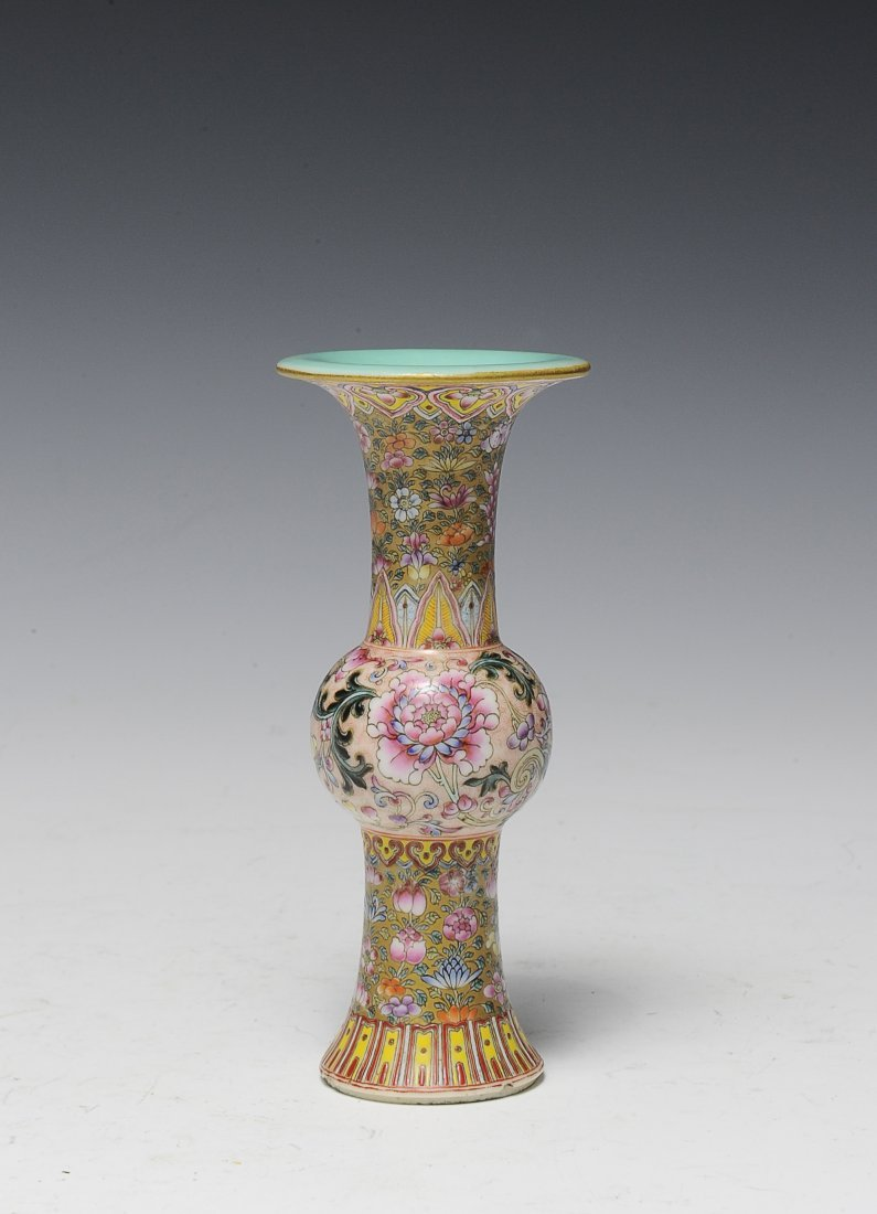 Small Famille Rose Gu Vase, Early 20th Century