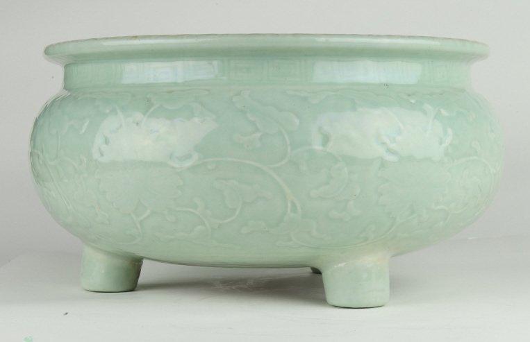 Celadon Tripod Censer, Early 19th Century - 3