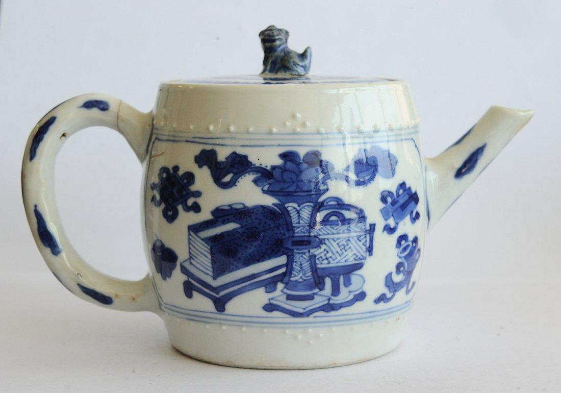 Blue & White Teapot, Kangxi Period - 6