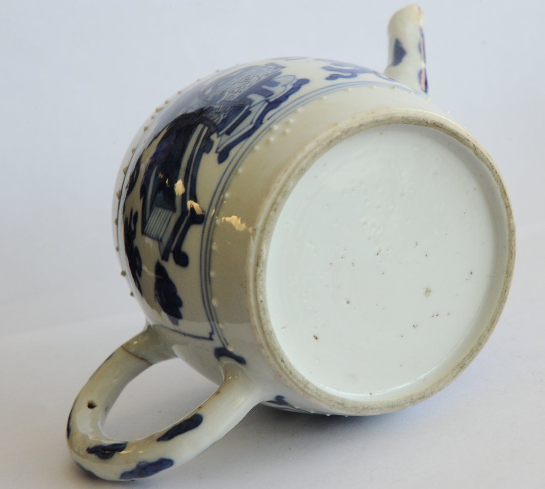 Blue & White Teapot, Kangxi Period - 9