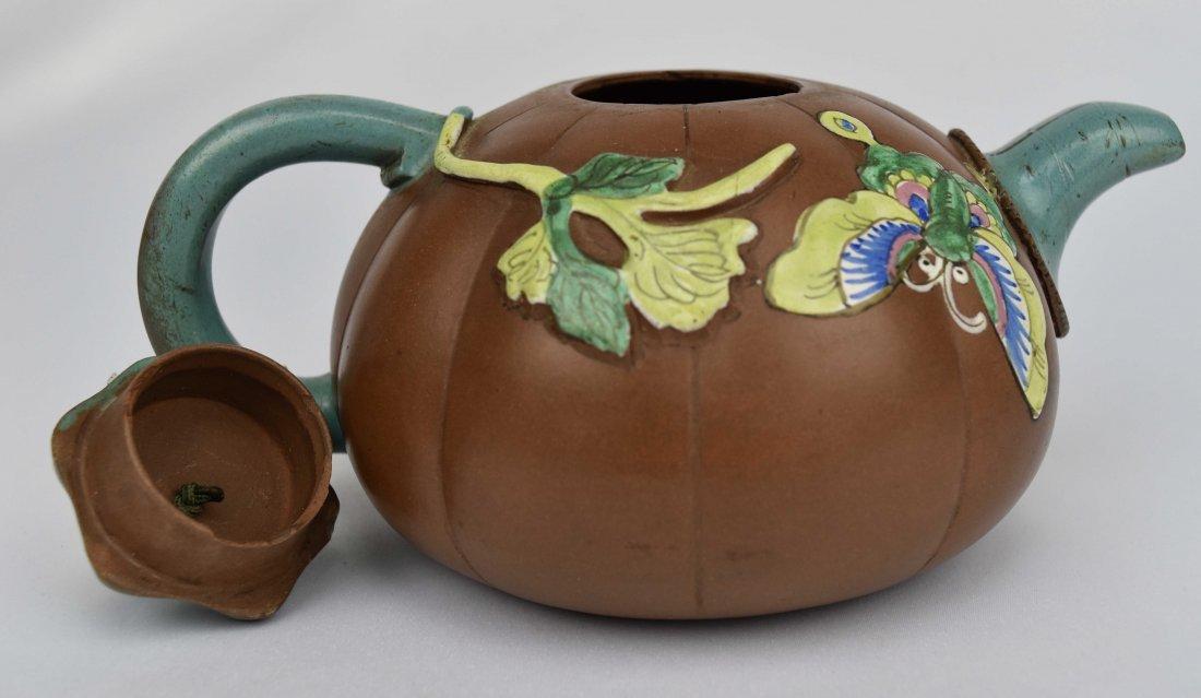 Yixing Pumpkin Form Teapot, 19th Century - 3