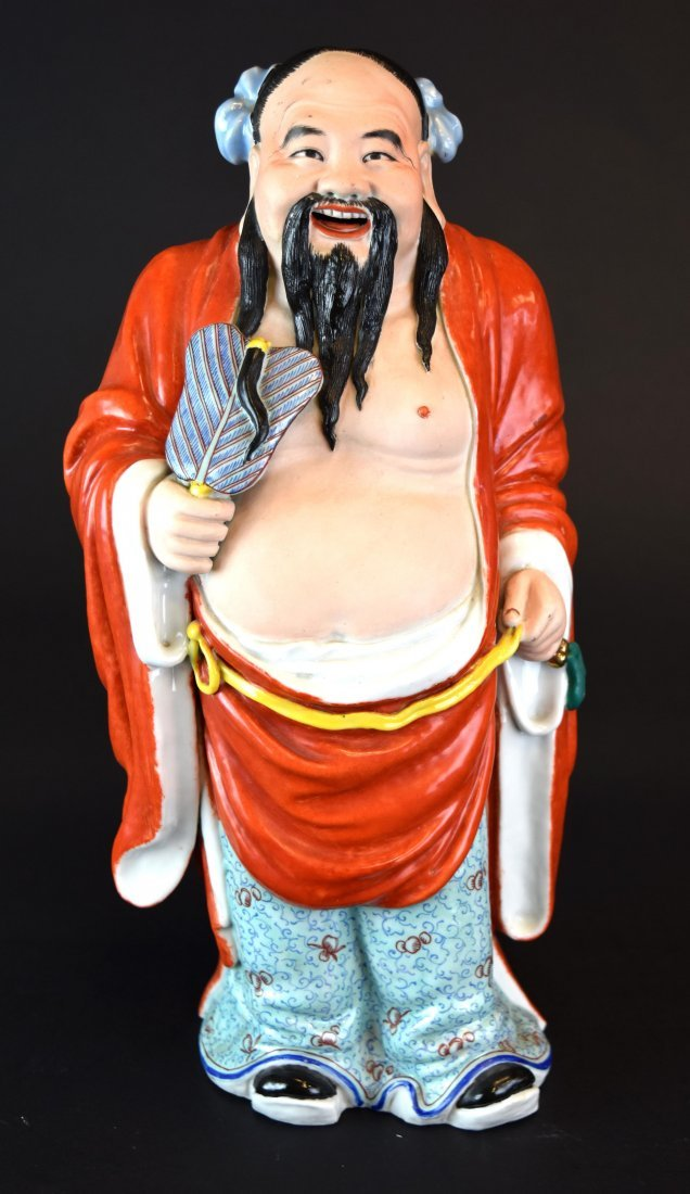 Porcelain Figure of Han Zhongli, Republic Period - 2