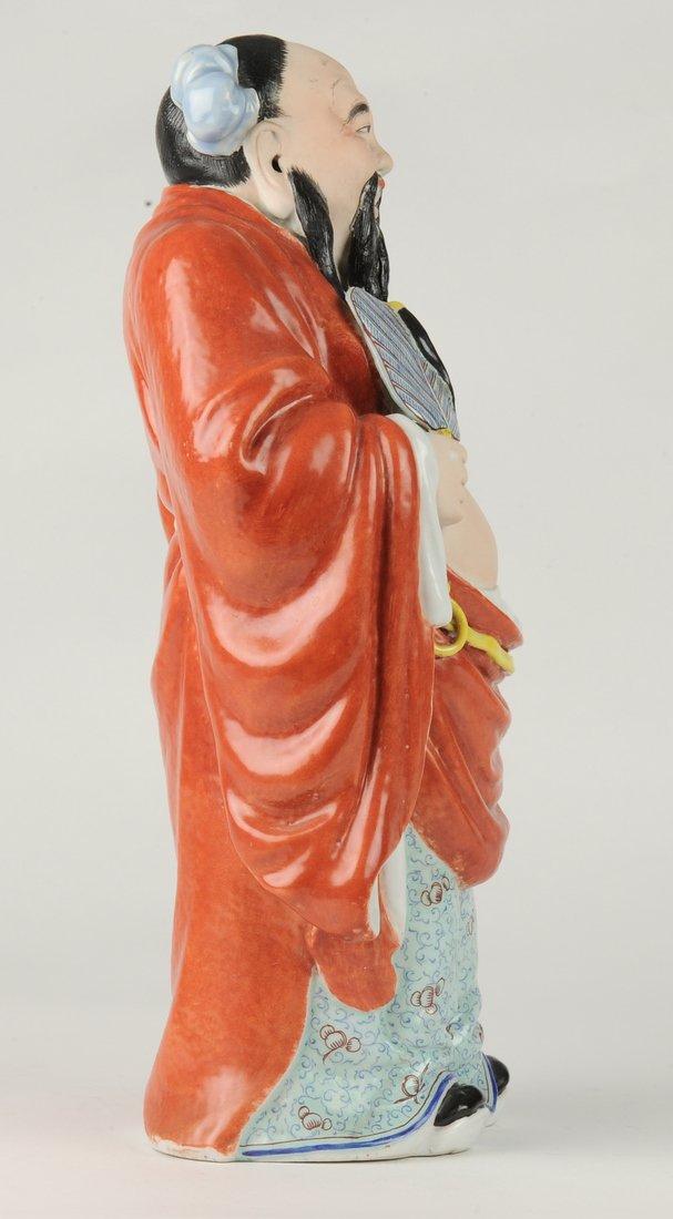 Porcelain Figure of Han Zhongli, Republic Period - 3