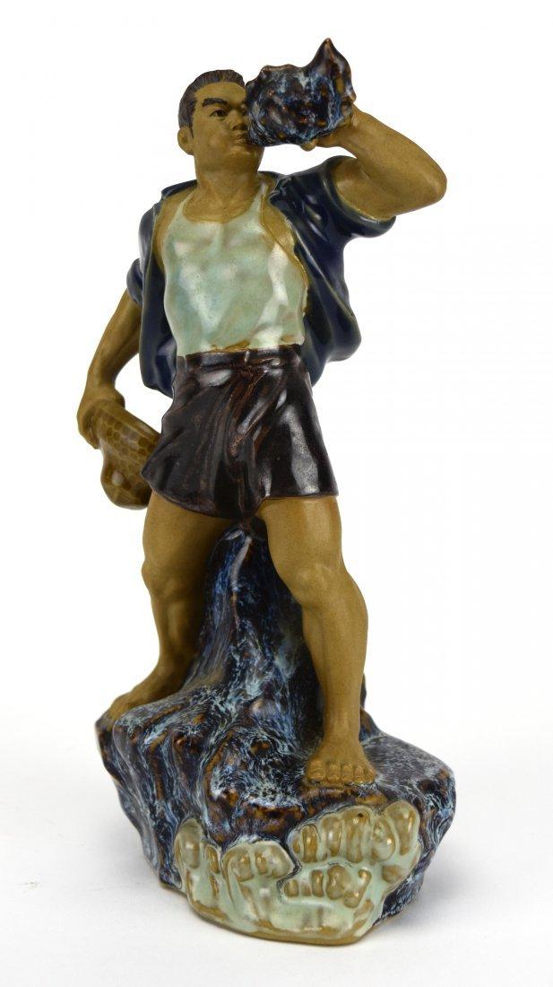 Shiwan Glazed Pottery Figure, 1966-1976