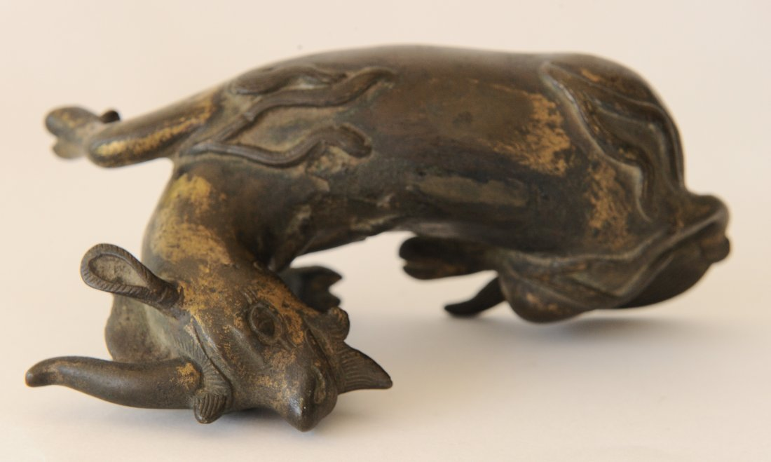 Gilded Bronze Single Horned Qilin, Ming Dynasty - 8