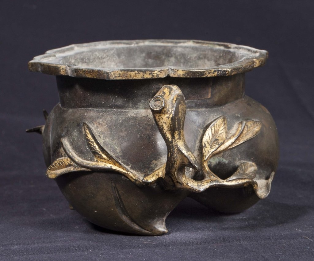 Gilt Bronze Incense Burner, 18th-19th Century - 4