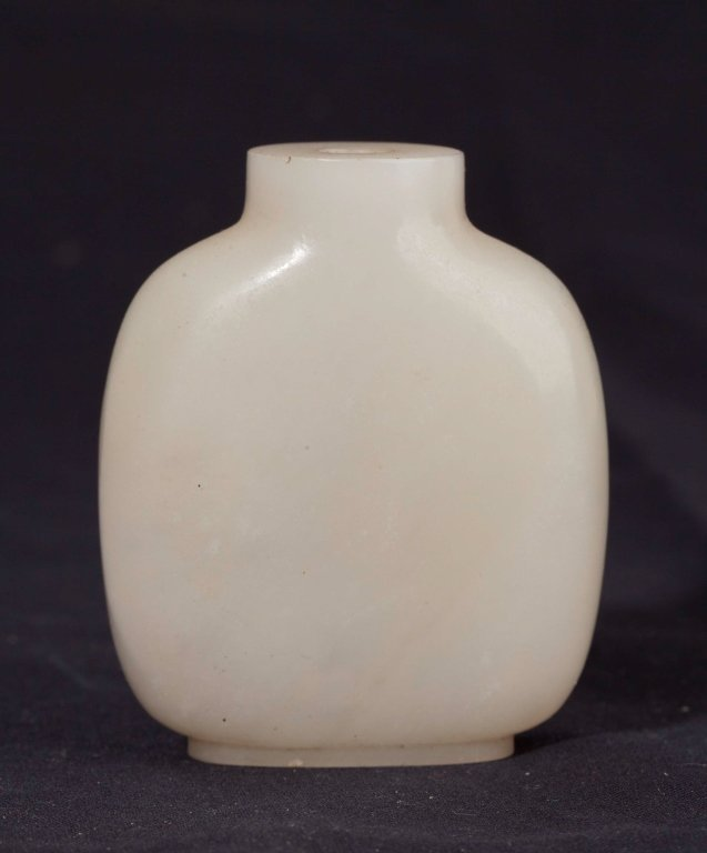 A White Jade Snuff Bottle, 19th Century