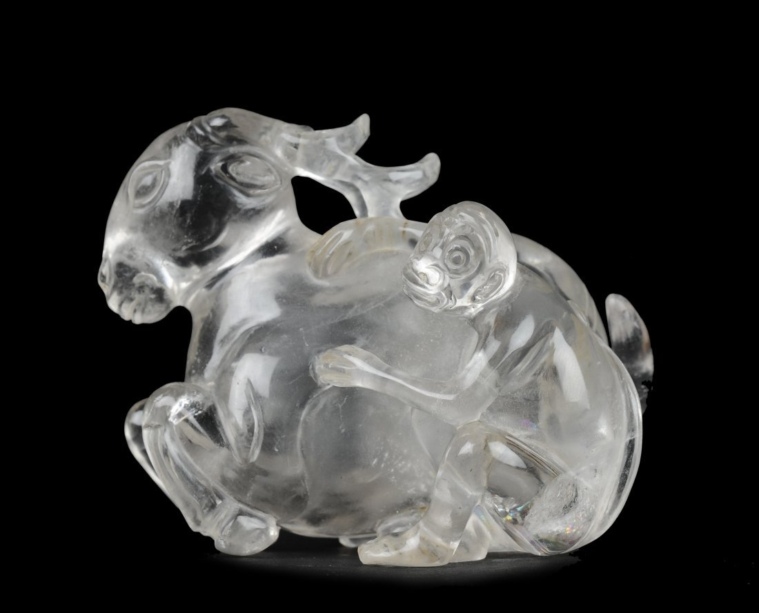 Carved Crystal Snuff Bottle, 19th Century
