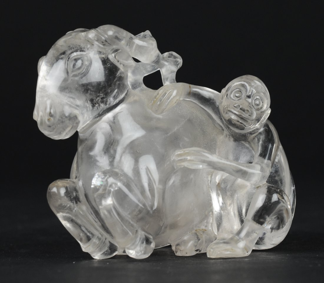 Carved Crystal Snuff Bottle, 19th Century - 2
