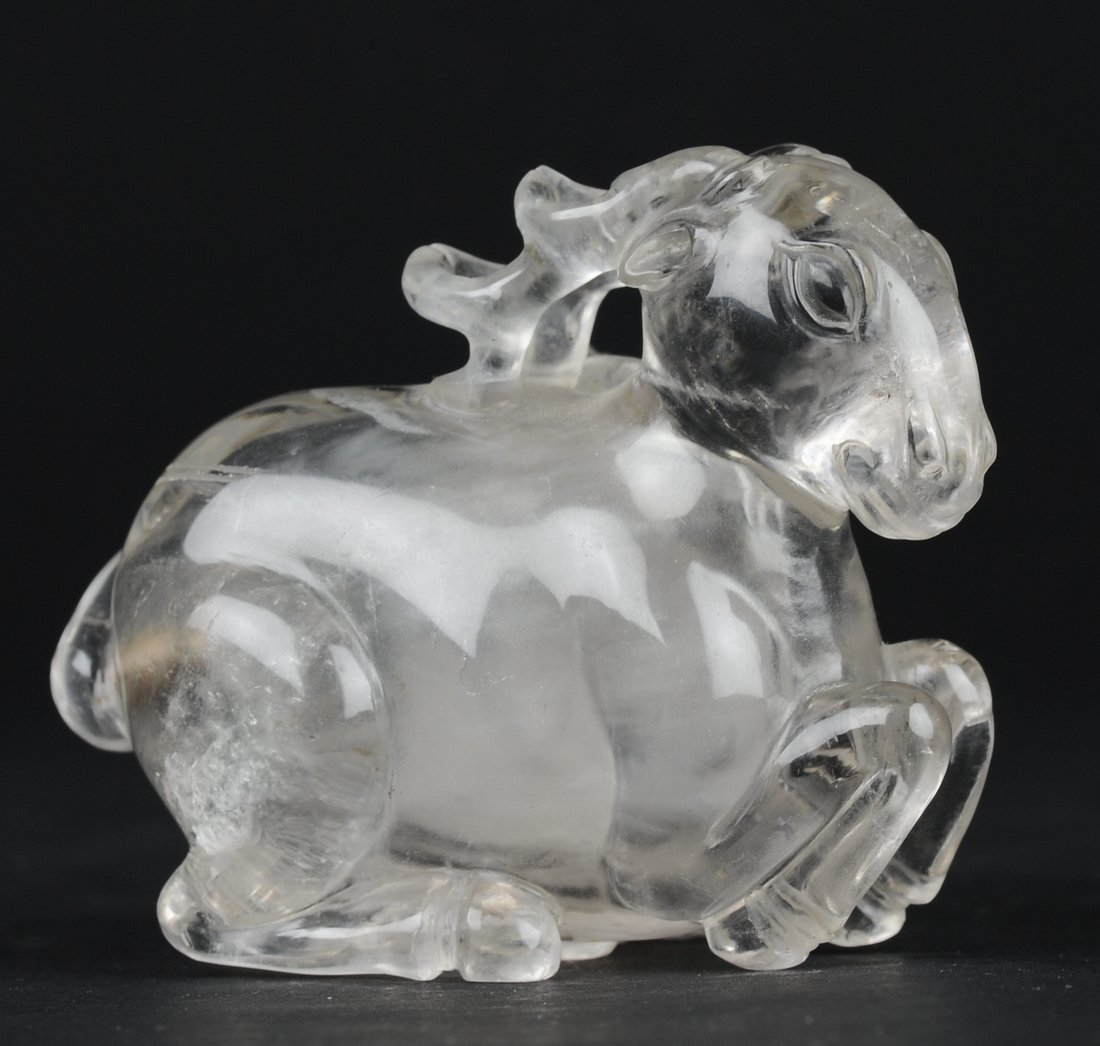 Carved Crystal Snuff Bottle, 19th Century - 3