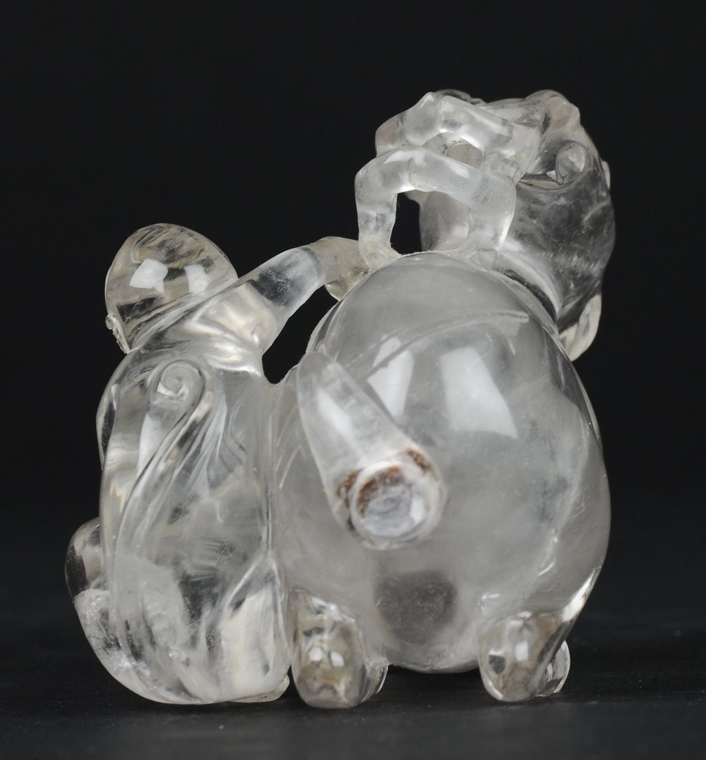 Carved Crystal Snuff Bottle, 19th Century - 4