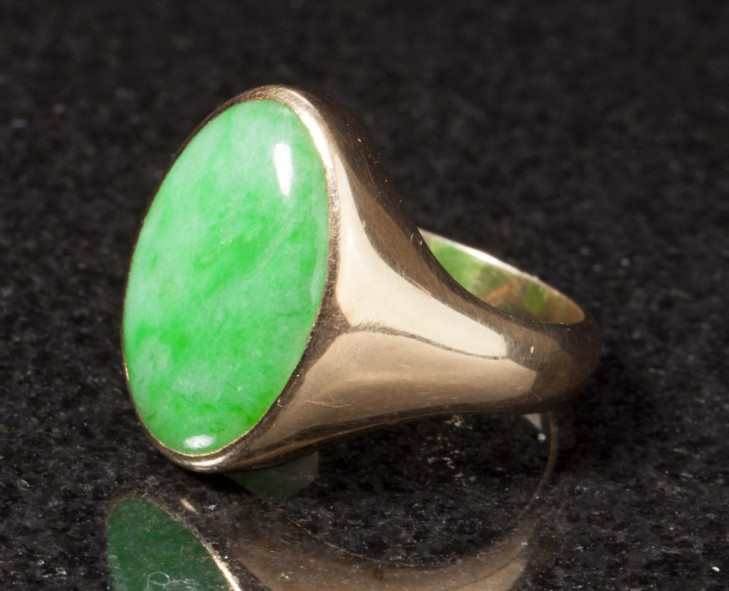 Gold & Jadeite Ring, Early 20th Century