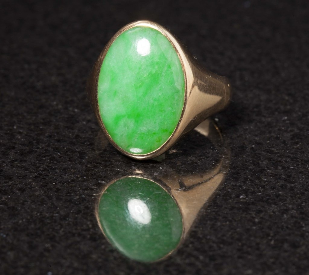 Gold & Jadeite Ring, Early 20th Century - 2