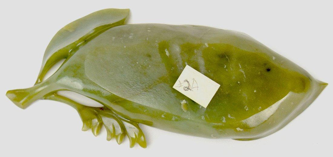 Jade Leaf Form Brush Washer, 19th Century - 4