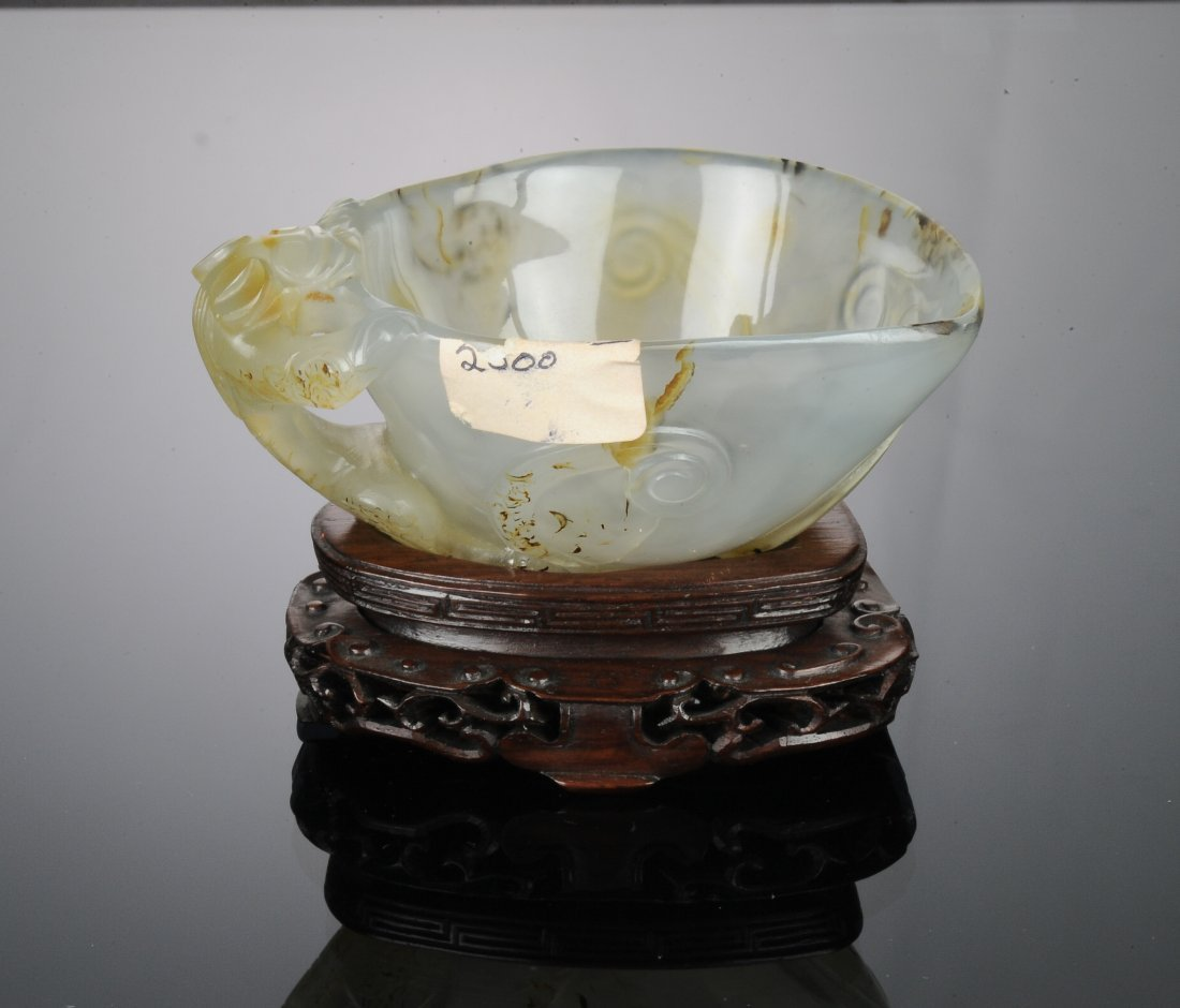 Agate Cup with Chilong Handle, Ming Dynasty - 4