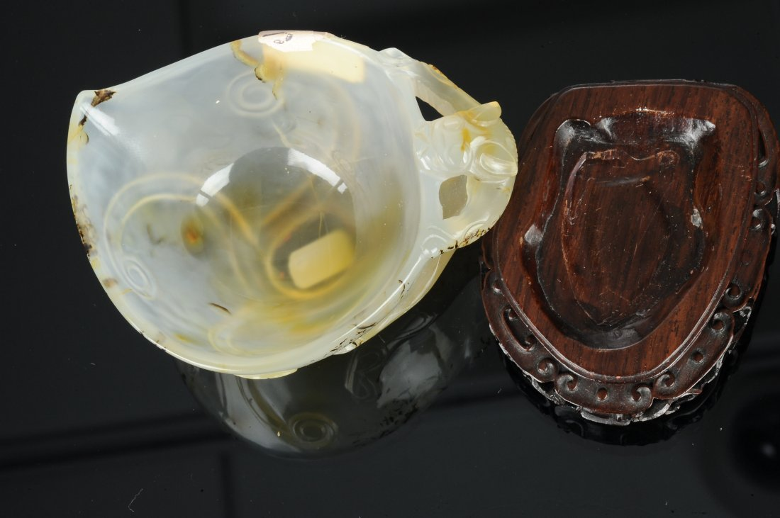 Agate Cup with Chilong Handle, Ming Dynasty - 6