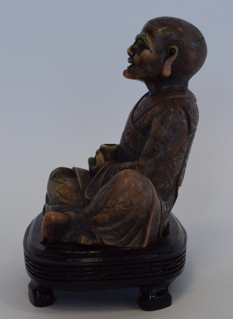 Seated Soapstone Lohan, 20th Century - 4