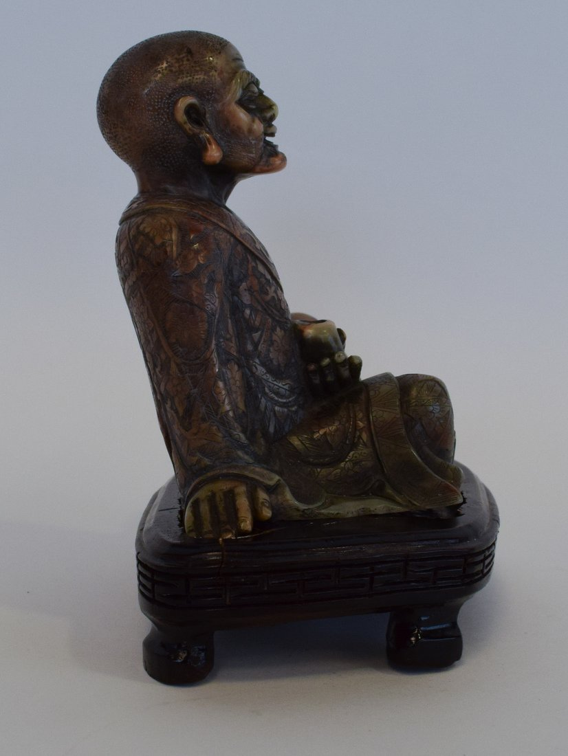 Seated Soapstone Lohan, 20th Century - 6