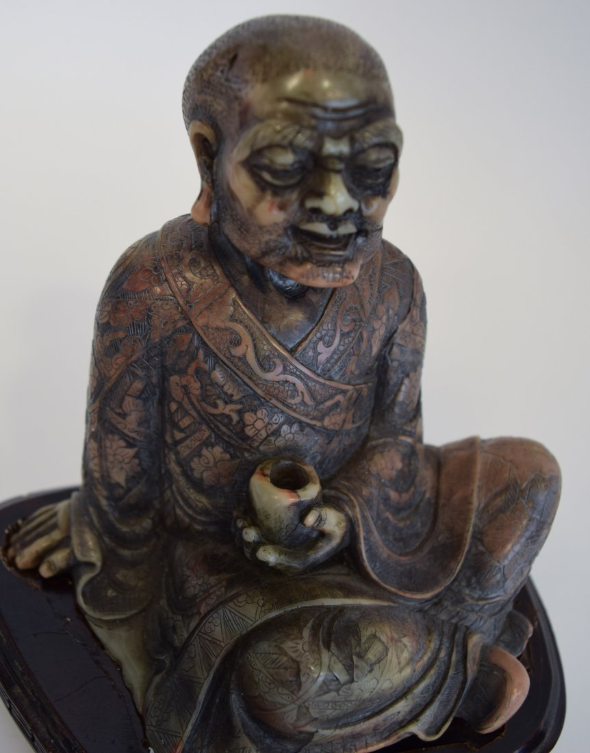 Seated Soapstone Lohan, 20th Century - 7
