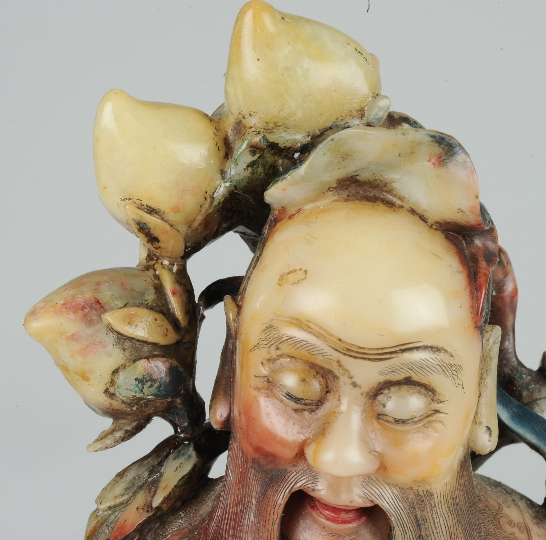 A Soapstone Carving of Dong Fang Suo - 6