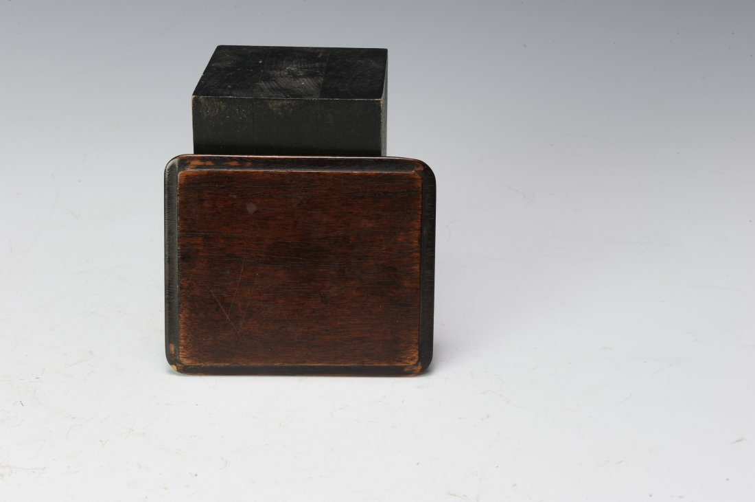 Rosewood Ink Stone Box, 19th - 20th Century - 3