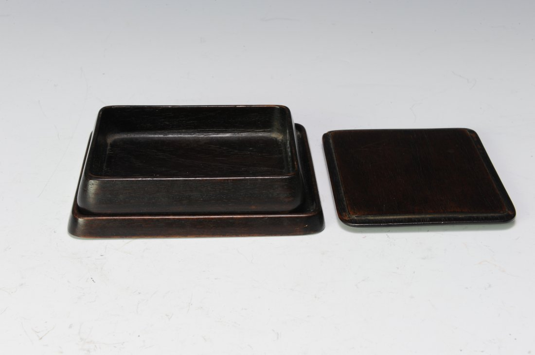 Rosewood Ink Stone Box, 19th - 20th Century - 5