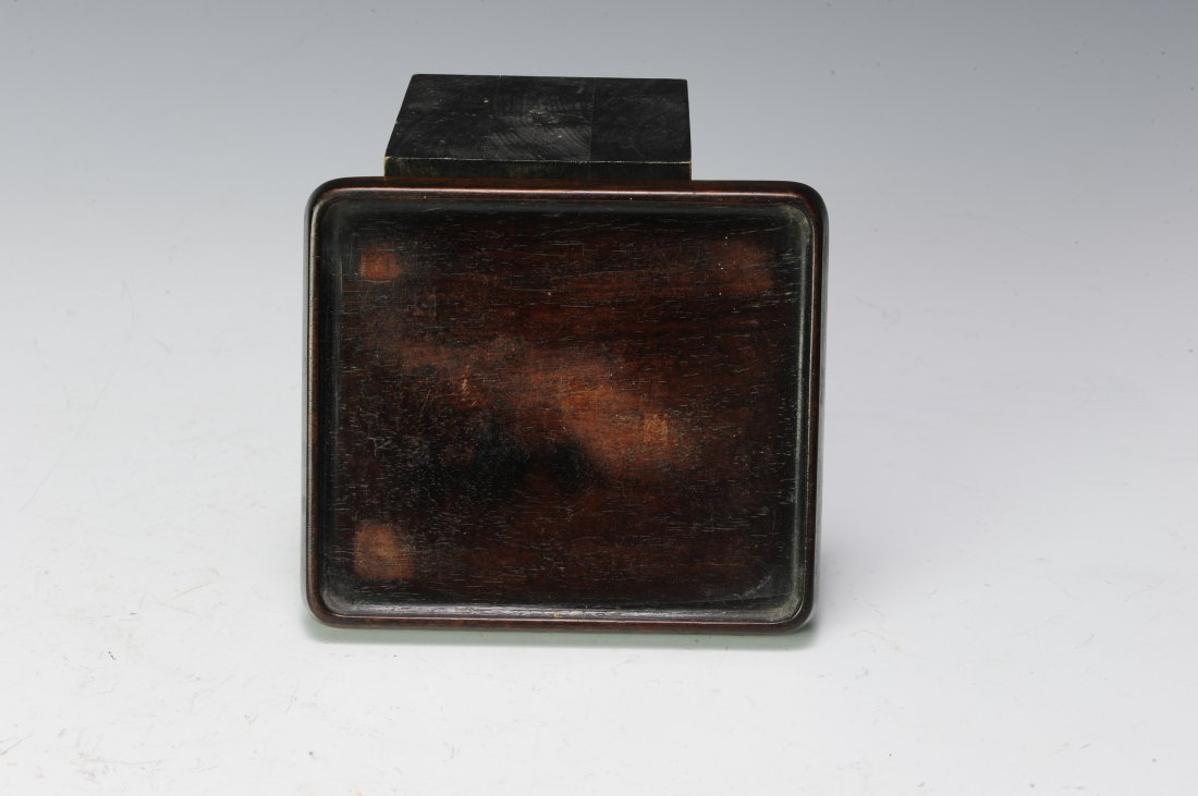 Rosewood Ink Stone Box, 19th - 20th Century - 8