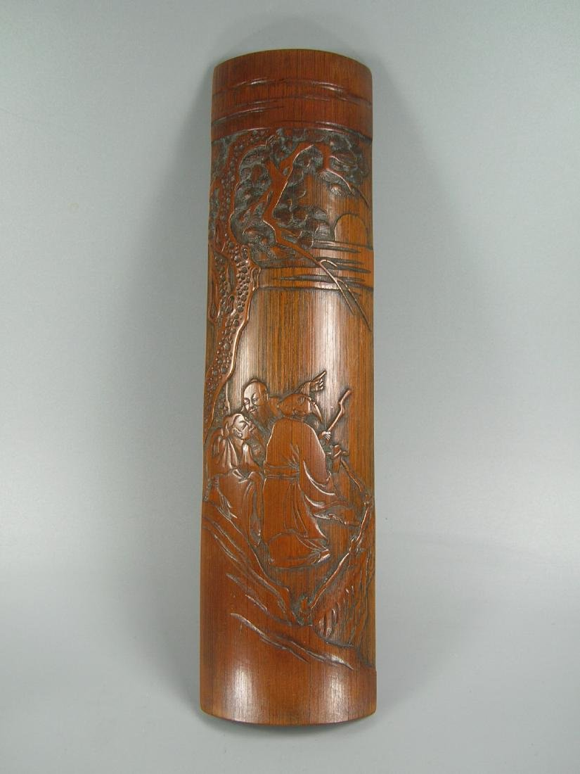 Antique Carved Bamboo Arm rest