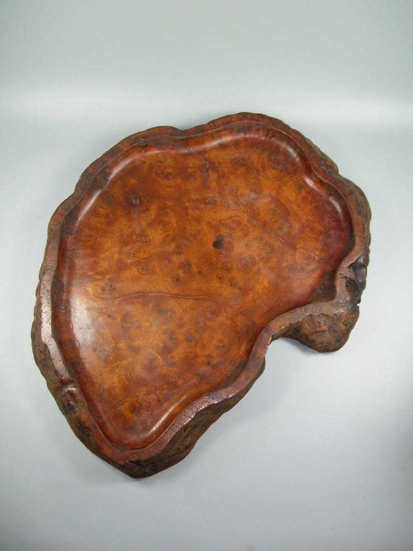 Large Antique Chinese Burlwood Tea Tray