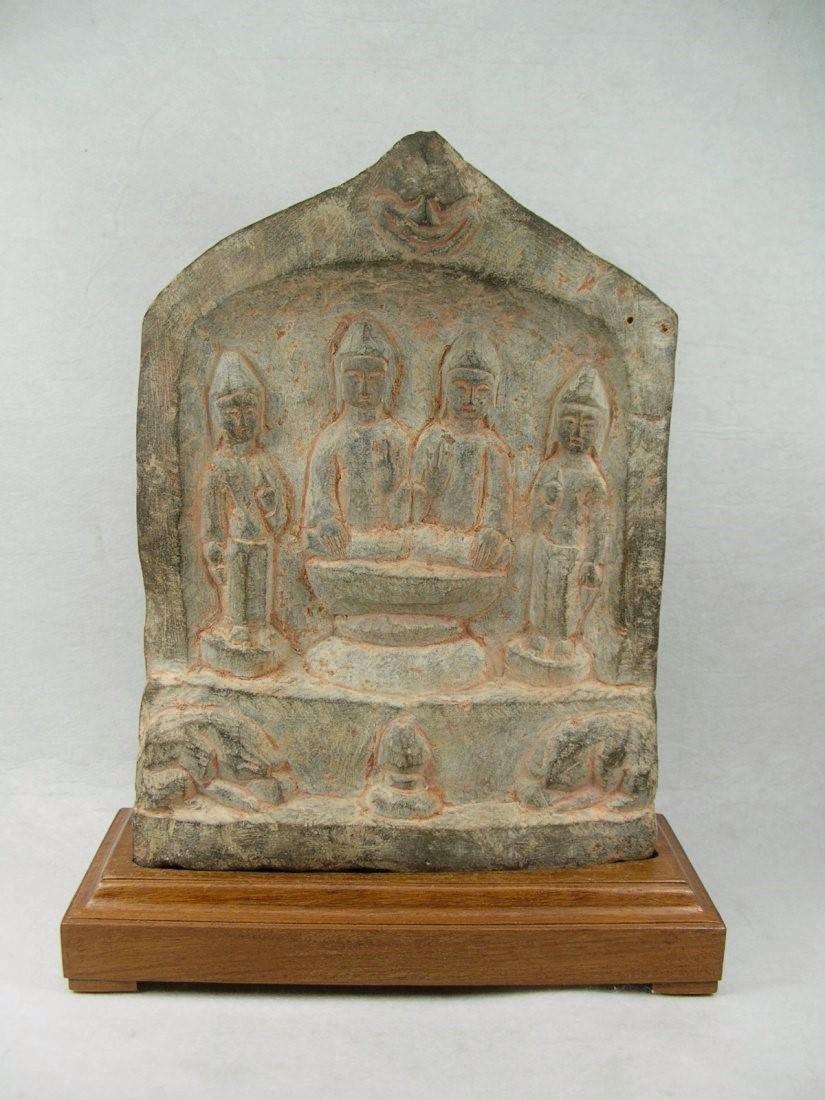 Unusual Tang Dynasty Buddhist Limestone Stele