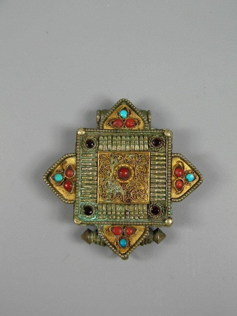Antique Tibetan Gau Prayer Box Pendant